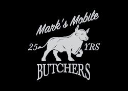 Marks Mobile Butchers Logo Silver